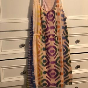 "Madewell ""Broadway & Broome"" Ikat Neon Dress"
